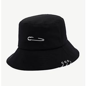 Hot Topic 9Pierced Black Bucket Hat New With Tags